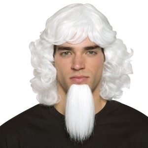 Uncle Sam Wig with Goatee - White / One Size