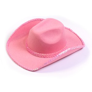 Pink Sequin Cowboy Hat