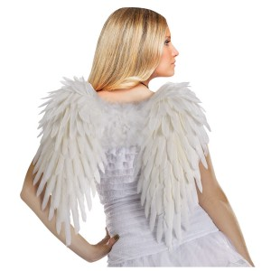 Adult White Feather Angel Wings - White
