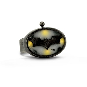 Batman The Dark Knight Rises Light-Up Ring - Silver / One-Size
