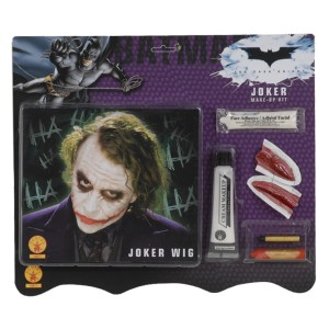 Batman Dark Knight - Deluxe Joker Wig / Makeup Accessory Kit Adult - Green / One-Size