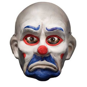 Batman Dark Knight Child Deluxe Joker Clown Mask - White / One-Size