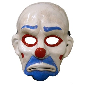 Batman Dark Knight Child Joker Clown Mask - White / One-Size