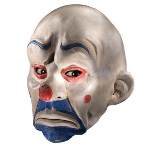 Batman Dark Knight Adult Joker Clown Mask - White / One-Size