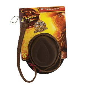 Indiana Jones - Indiana Jones Hat and Whip Set Adult - Brown / One-Size