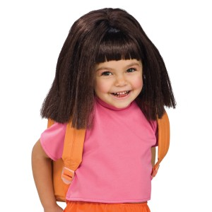 Dora The Explorer Dora Wig Child - Black / One-Size