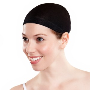 Wig Cap Black - Black / One-Size