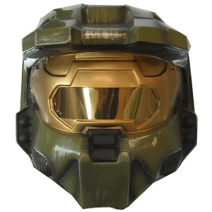 Halo 3 Master Chief 2 piece Vacuform Mask Adult - Green / One Size