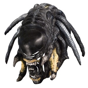 Alien vs. Predator Deluxe Predalien Overhead Latex Mask - Black / One Size