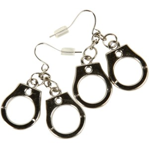 Handcuff Earrings - Silver / One Size