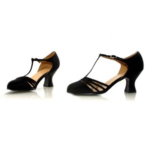Lucille Black Adult Shoes - Black / 7