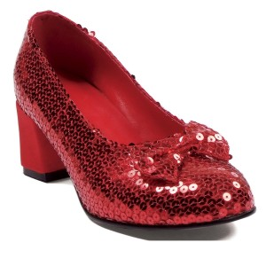 Judy Sequin Red Adult Shoes - Red / 7