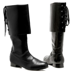 Sparrow Black Adult Boots - Black / Large (12-13)