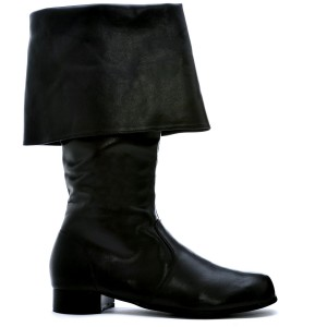 Hook Black Adult Boots - Black / Small (8-9)