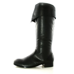 Bernard Black Adult Boots - Black / Large (12-13)
