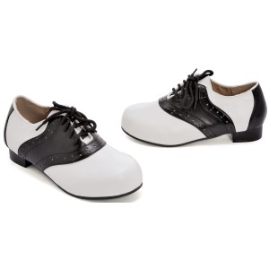 Saddle Black/White Child Shoes - Black/White / X-Large (4-5)