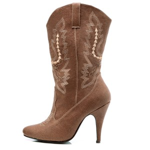 Cowgirl Brown Adult Boots - Brown / 10