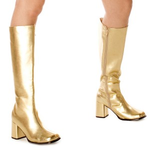 Gogo Gold Adult Boots - Gold / 8