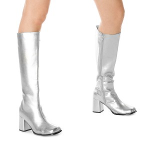 Gogo Silver Adult Boots - Silver / 10