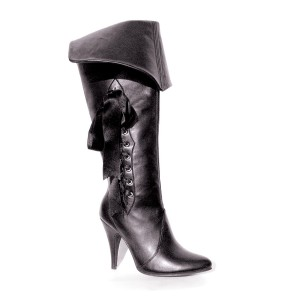 Pirate Black Adult Boots - Black / 8