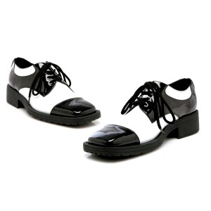 Fred Black/White Adult Shoes - Black / Small (8-9)