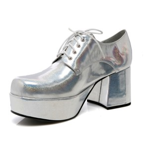Silver Pimp Adult Shoes - Silver / Small (8-9)