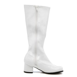 Dora White Child Boots - White / Small (11-12)