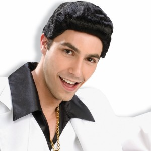 Disco Dude Black Wig - Black / One-Size