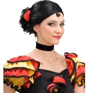 Spanish Senorita Wig - Black / One-Size