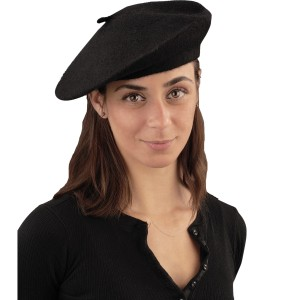 Black Beret - Black / One-Size