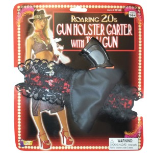 Gun and Holster Garter - Red/Black / One-Size