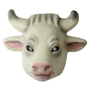 Cow Mask - White / One Size