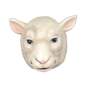 Sheep Mask Child - White / One Size