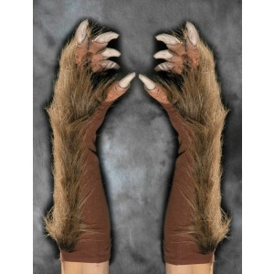 Wolf Gloves - Brown / One Size Fits Most