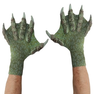 Webbed Sea Creature Gloves - Green / One Size Fits Most