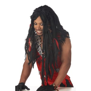 Voodoo Dreads Adult Wig - Black / One-Size