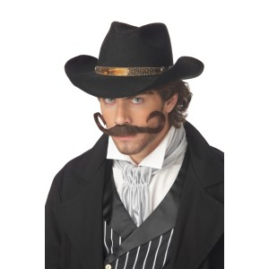 The Gunslinger Moustache - Black / One-Size