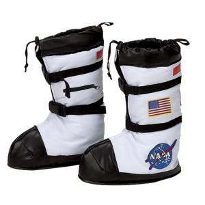 NASA Astronaut Child Boot Covers - White / Small