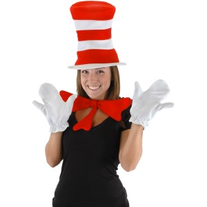 Dr. Seuss The Cat in the Hat - The Cat in the Hat Accessory Kit Adult - Black / One-Size