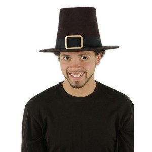 Deluxe Pilgrim Adult Hat - Black / One-Size