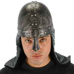 Black Knight Helmet - Black / One-Size