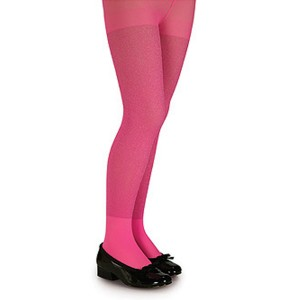 Pink Glitter Tights - Child - Pink / Small