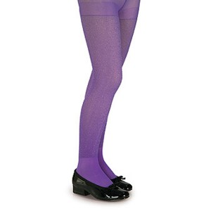 Purple Glitter Tights - Child - Purple / Large