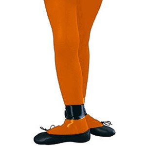 Orange Tights - Child - Orange / Large
