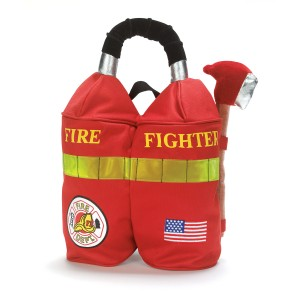 Firefighter Backpack Child - Red / One Size