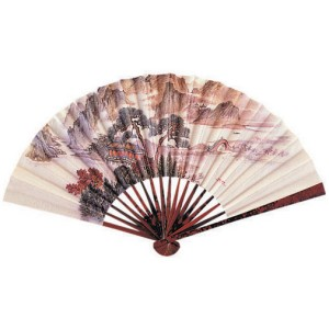 Kimono Princess Fan - Tan / One-Size