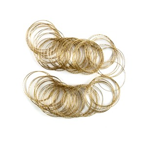 Gold Bangles 50 - Gold / One-Size