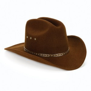 Child Cowboy Hat Brown - Brown / One-Size