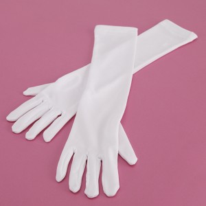 Long White Gloves - Child - White / One Size