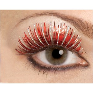 Red Fake Eyelashes - Red / One-Size